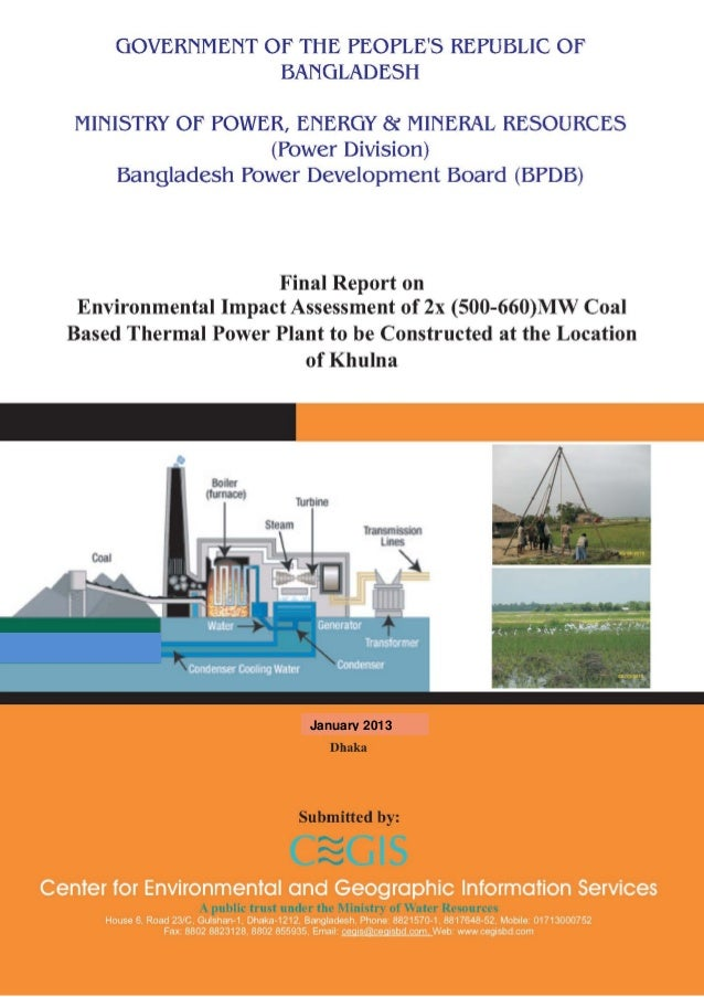Environmental Impact Assessment (EIA) report on Rampal 1320MW coal-based power plant near the Sundarbans mangroves