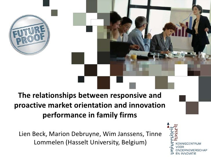 The relationships between responsive and proactive market orientation and innovation performance in family firms<br />Lien...