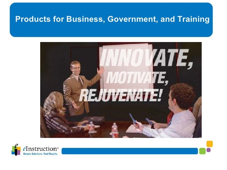 Products for Business, Government, and Training
