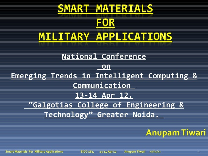 National Conference                         on   Emerging Trends in Intelligent Computing &                  Communication...