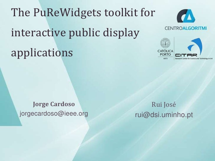 PuReWidgets presentation at EICS 2012