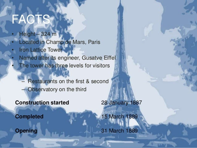 Eiffel Tower: Information & Facts