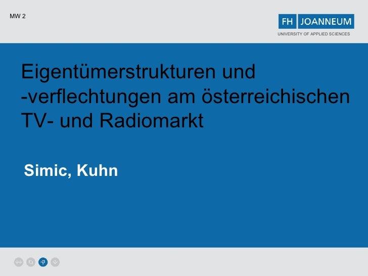 Eigentümerstrukturen und -verflechtungen am österreichischen TV- und Radiomarkt Simic, Kuhn