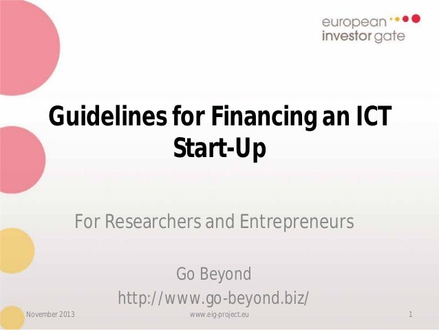 Eig guidelines