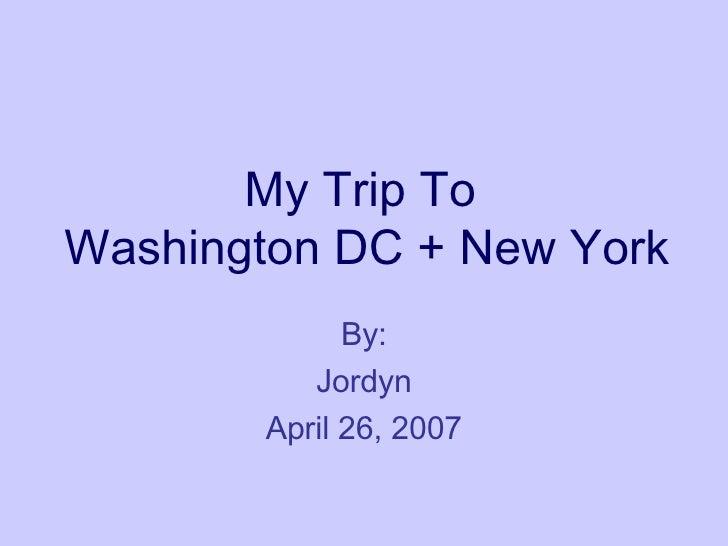 Eighth Grade Trip to Washington D.C and NY