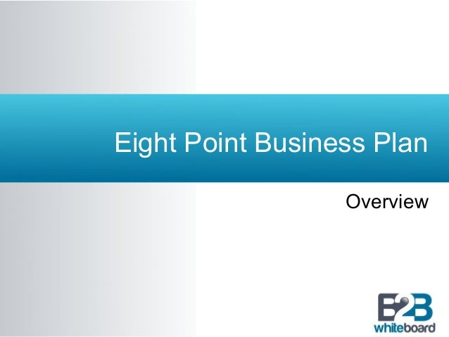 Eight point business plan