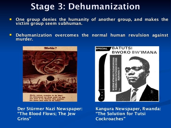 the loss of humanity the dehumanization Dered by government death squads the strategy, in short, was to dehumanize  human rights the new assistant secretary of state for human rights and.