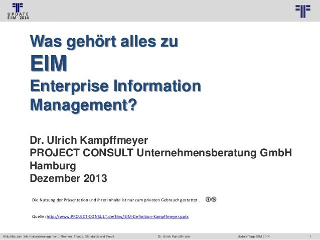 © PROJECT CONSULT Unternehmensberatung Dr. Ulrich Kampffmeyer GmbH 2011  / Autorenrecht: <Vorname Nachname> Jan-14 / Quell...