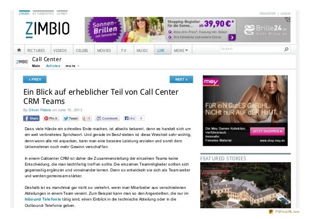 ZIMBIO STYLEBISTRO LONNY REGISTER LOGIN Main Art icles Call Center « PREV NEXT » Ein Blick auf erheblicher Teil von Call C...