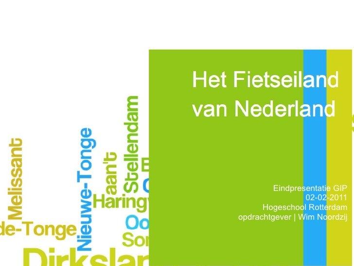 Eindpresentatie Het fietseiland van Nederland