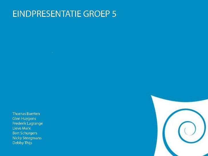 """EINDPRESENTATIE GROEP 5<br />""""WARPED""""<br />Thomas Baerten<br />GlenHuygens<br />Frederik Lagrange<br />Lieve Marx<br />Ber..."""