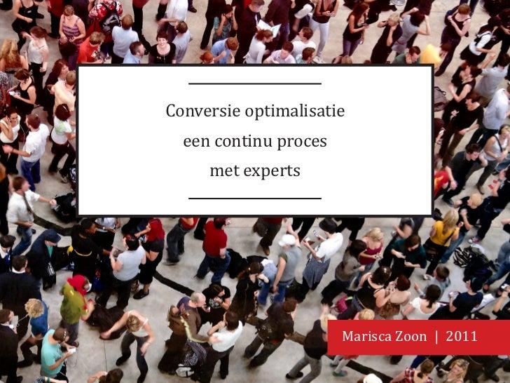 Conversie optimalisatie een continu proces met experts