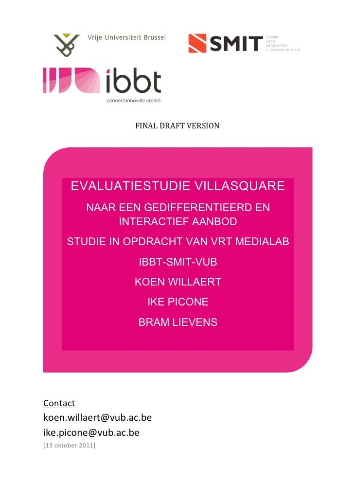 Evaluatiestudie VillaSquare