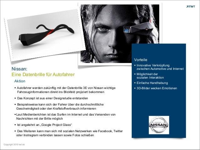 Vorteile  Nissan: Eine Datenbrille für Autofahrer Aktion § Autofahrer werden zukünftig mit der Datenbrille 3E von Nissan ...