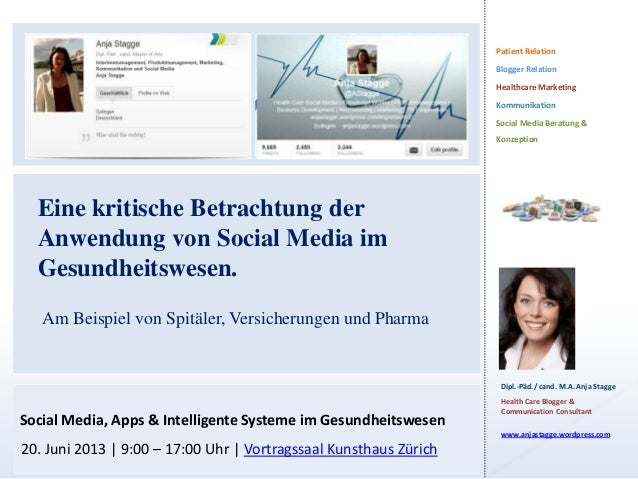 Patient RelationBlogger RelationHealthcare MarketingKommunikationSocial Media Beratung &KonzeptionDipl.-Päd./ cand. M.A. A...