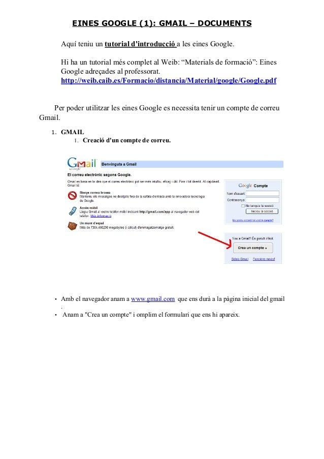 """Aquí teniu un tutorial d'introducció a les eines Google. Hi ha un tutorial més complet al Weib: """"Materials de formació"""": E..."""