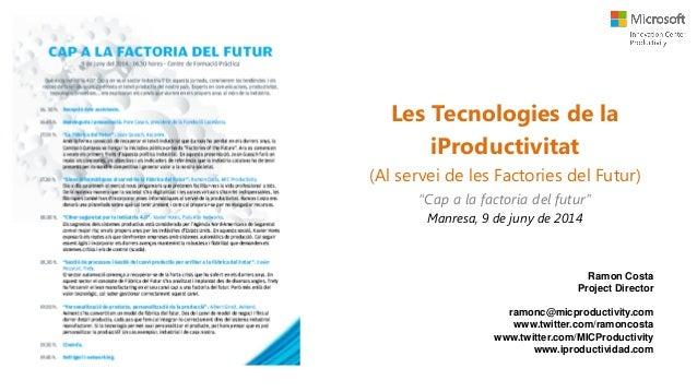 Eines de Productivitat al Servei de les Factories del Futur