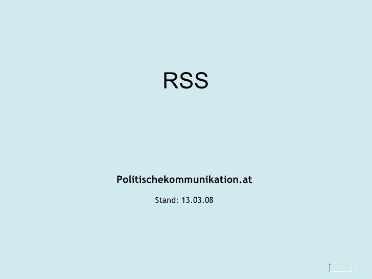RSS Politischekommunikation.at Stand:  02.06.09