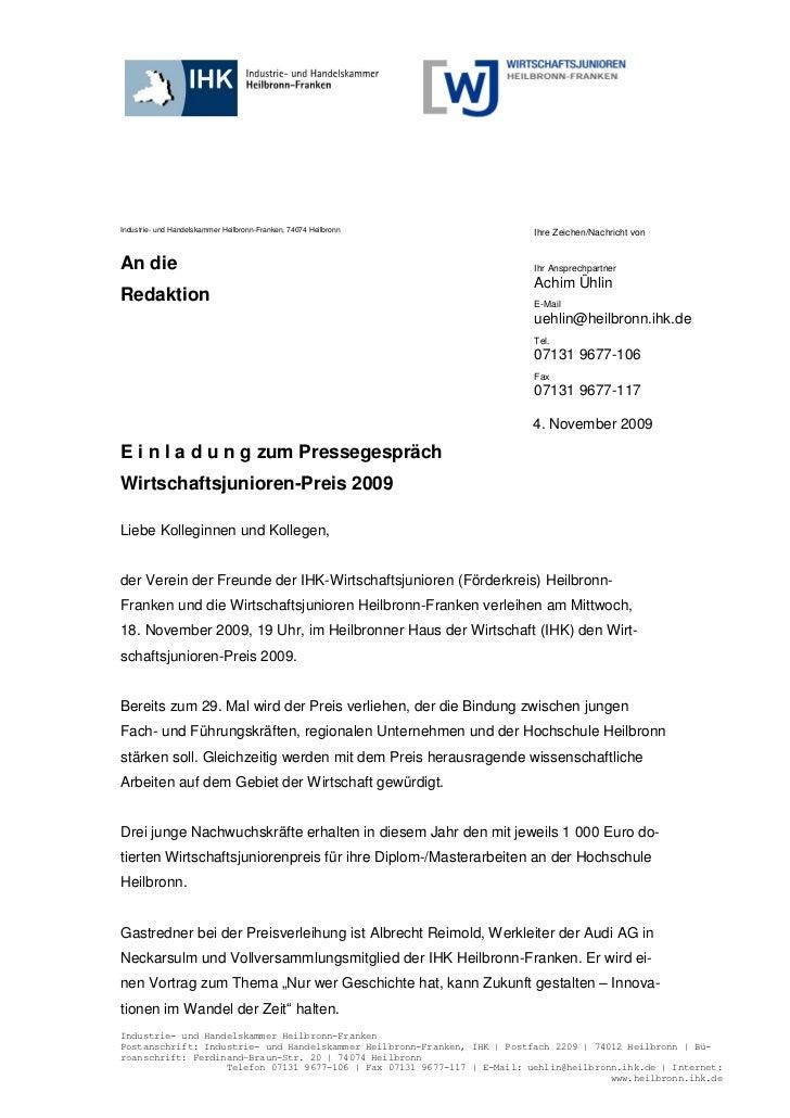 Industrie- und Handelskammer Heilbronn-Franken, 74074 Heilbronn           Ihre Zeichen/Nachricht vonAn die                ...