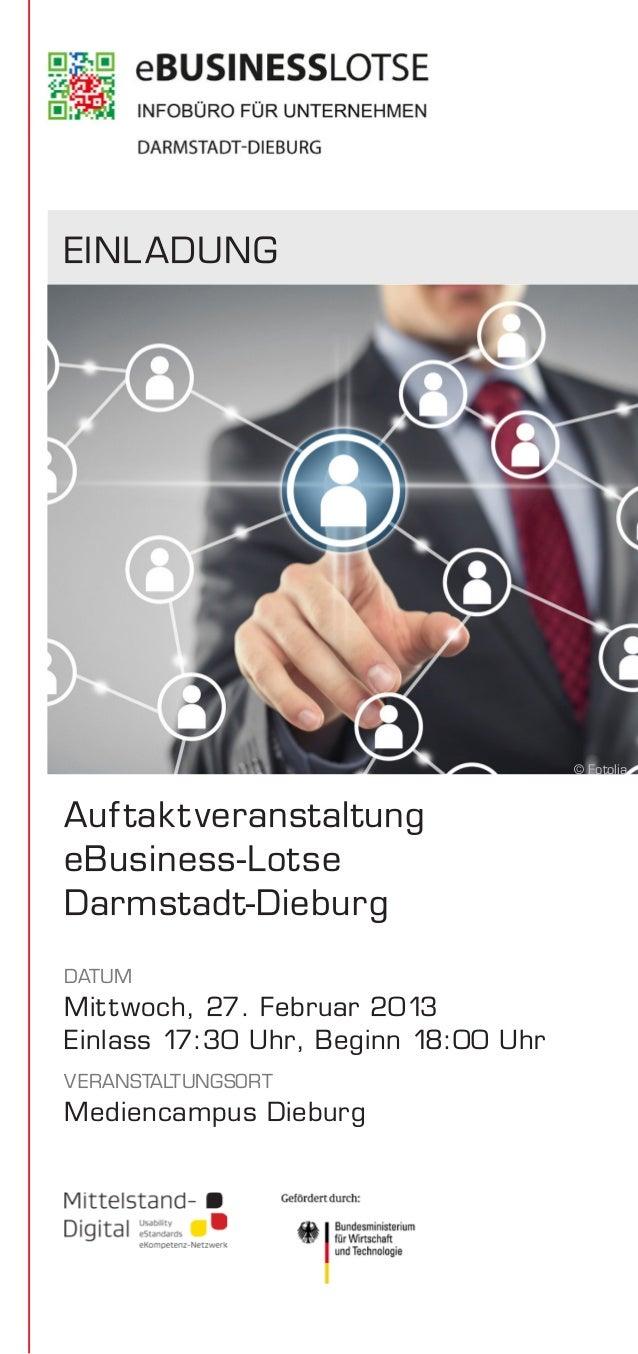EINL ADUNG                                      © FotoliaAuf tak t veranstaltungeBusiness-LotseDarmstadt-DieburgDATUMMit t...