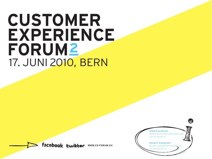 Liebe Customer Experience Enthusiasten, wir sehen immer mehr Firmen, die Customer Experience (CX) als strategisches Differ...