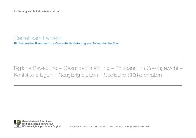 Einladung zur Auftakt-VeranstaltungGemeinsam handelnEin kantonales Programm zur Gesundheitsförderung und Prävention im Alt...