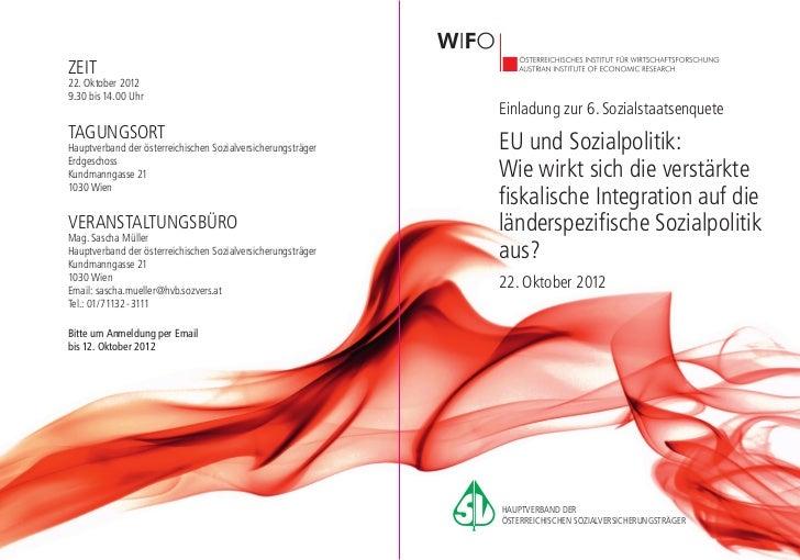 Einladung wifo 2012
