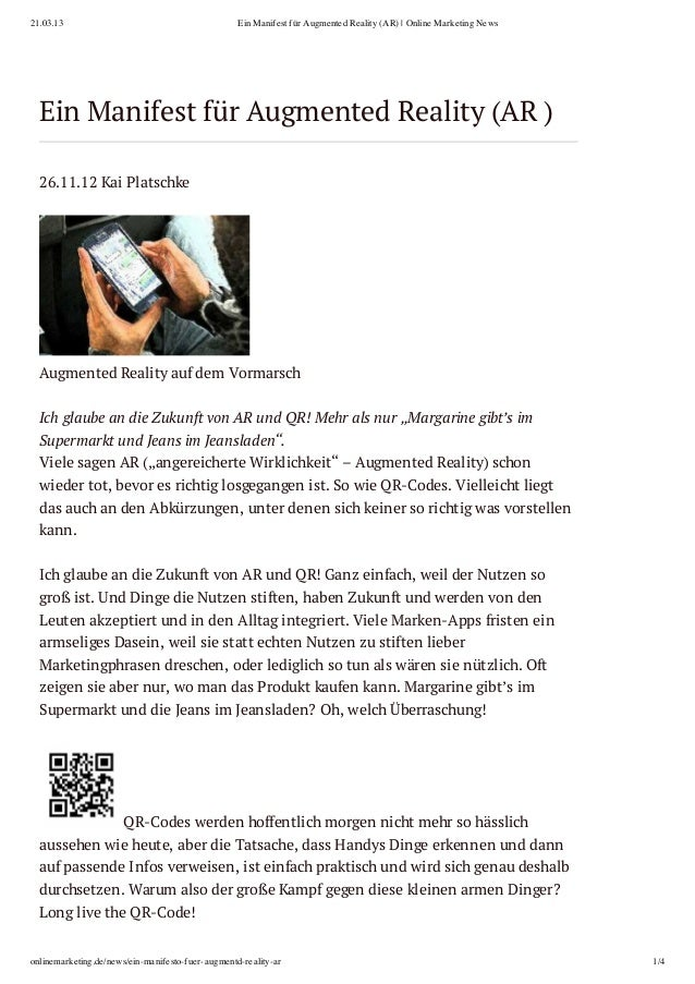 21.03.13                                           Ein Manifest für Augmented Reality (AR) | Online Marketing News  Ein Ma...