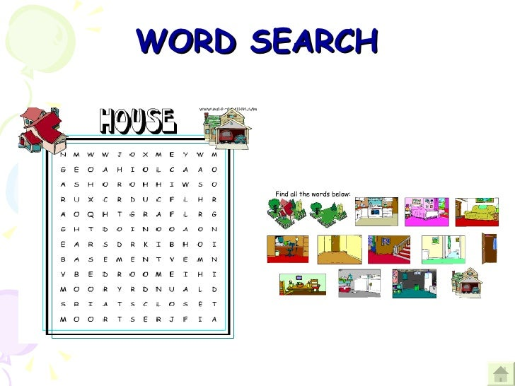 Welcome To My House on M Wordsearch