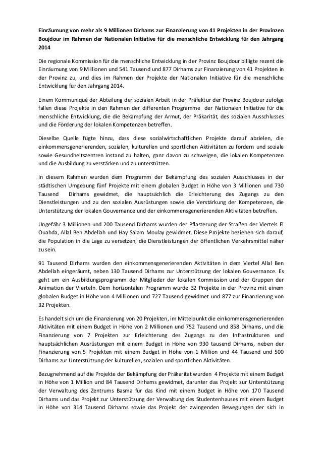Einräumung von mehr als 9 millionen dirhams zur finanzierung von 41 projekten in der provinzen boujdour im rahmen der nationalen initiative für die menschliche entwicklung für den jahrgang 2014