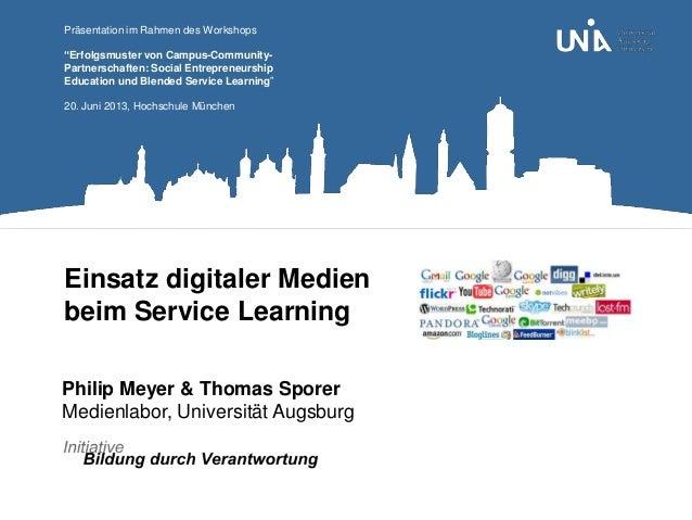 Einsatz digitaler Medien im Service Learning