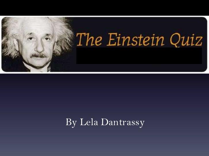 Einstein Quiz for Turning Point