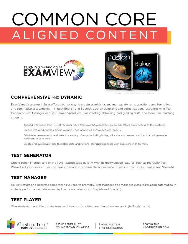 E instruction examview assessment_suite