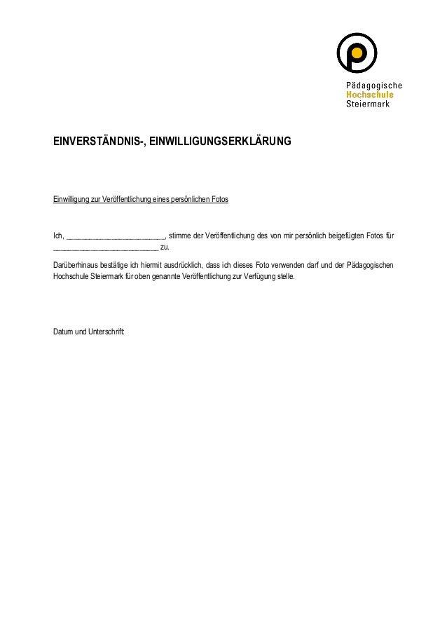 EINVERSTÄNDNIS-, EINWILLIGUNGSERKLÄRUNG