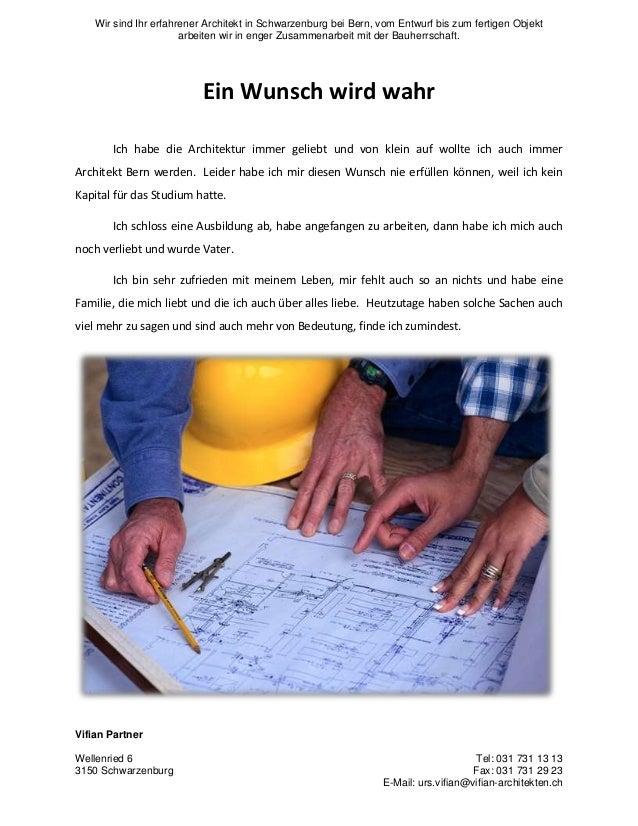 Wir sind Ihr erfahrener Architekt in Schwarzenburg bei Bern, vom Entwurf bis zum fertigen Objekt arbeiten wir in enger Zus...