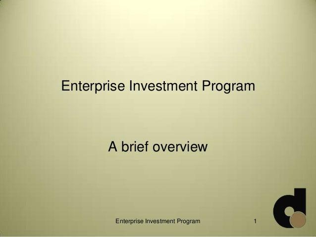 Enterprise Investment Program