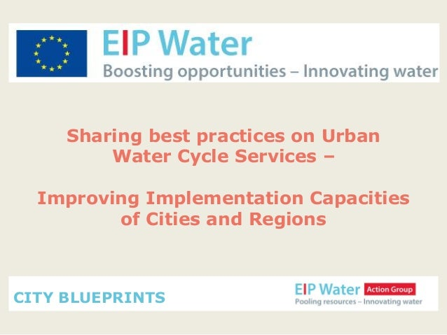 EIP Water Action Group City Blueprints September 2013