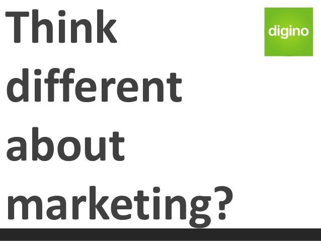 Think different about marketing?