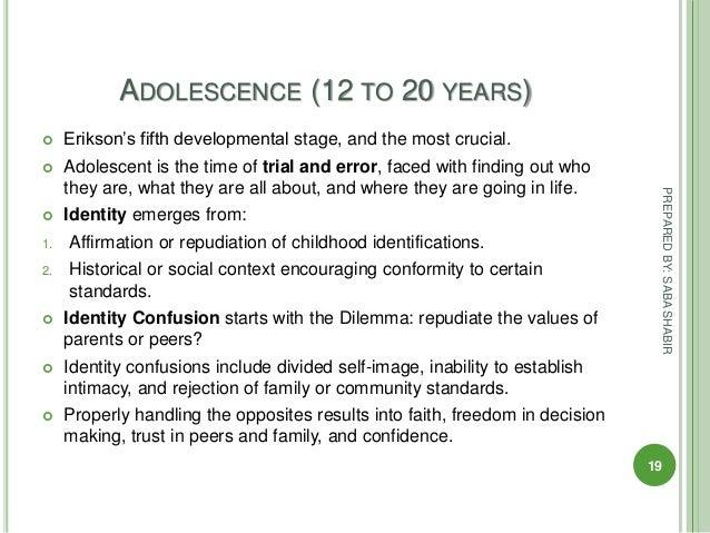 adolescence according to erikson essay