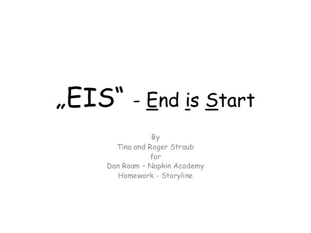 """EIS"" - End is Start By Tina and Roger Straub for Dan Roam – Napkin Academy Homework - Storyline"
