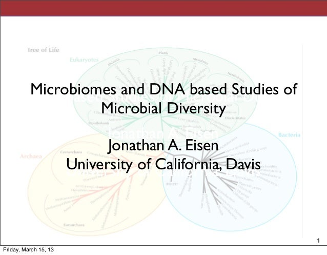 Microbiomes and DNA based studies of microbial diversity - talk by Jonathan Eisen at Singularity University