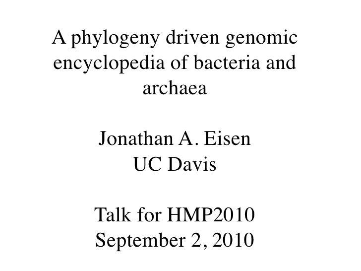 Jonathan Eisen slides for #HMP2010