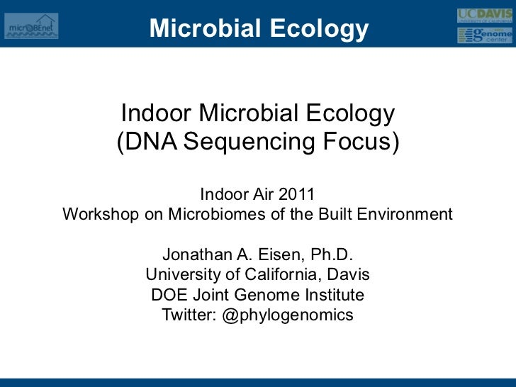 Microbial Ecology       Indoor Microbial Ecology      (DNA Sequencing Focus)                Indoor Air 2011Workshop on Mic...