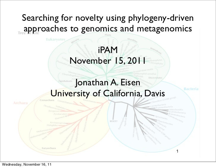 Searching for novelty using phylogeny-driven          approaches to genomics and metagenomics                             ...