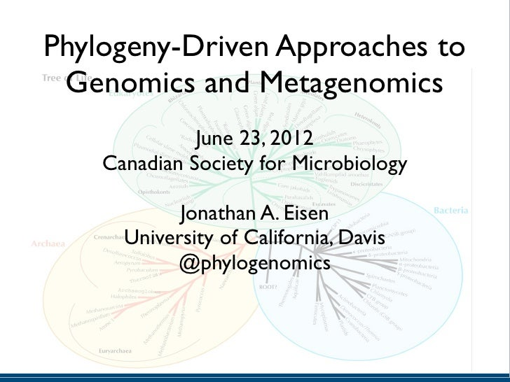 Phylogeny-Driven Approaches to Genomics and Metagenomics              June 23, 2012    Canadian Society for Microbiology  ...