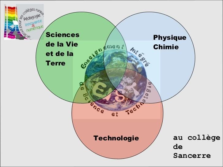 Technologie Sciences de la Vie et de la Terre Physique Chimie au collège de Sancerre