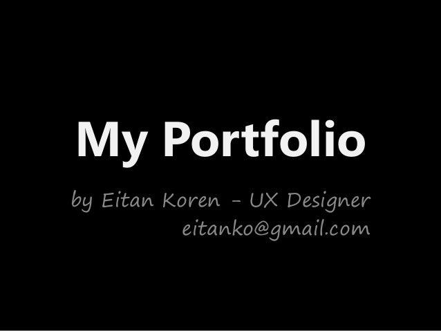 Eitan koren portfolio