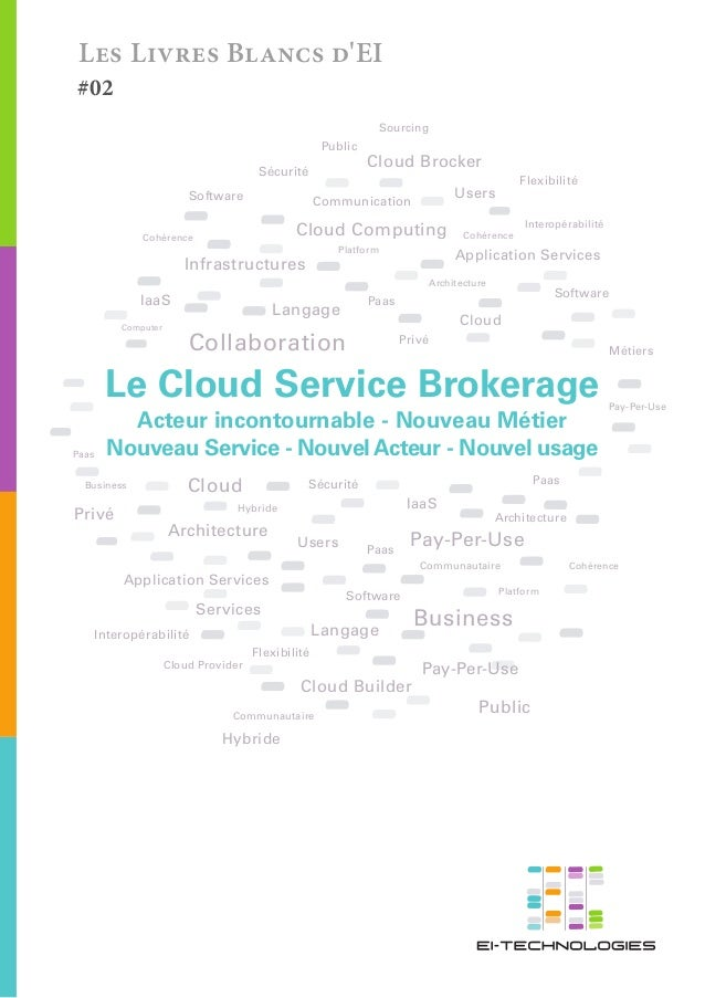 Les Livres Blancs d'EI  #02  Sourcing  Public  Sécurité Software  Cloud Brocker  Communication  Cloud Computing  Cohérence...