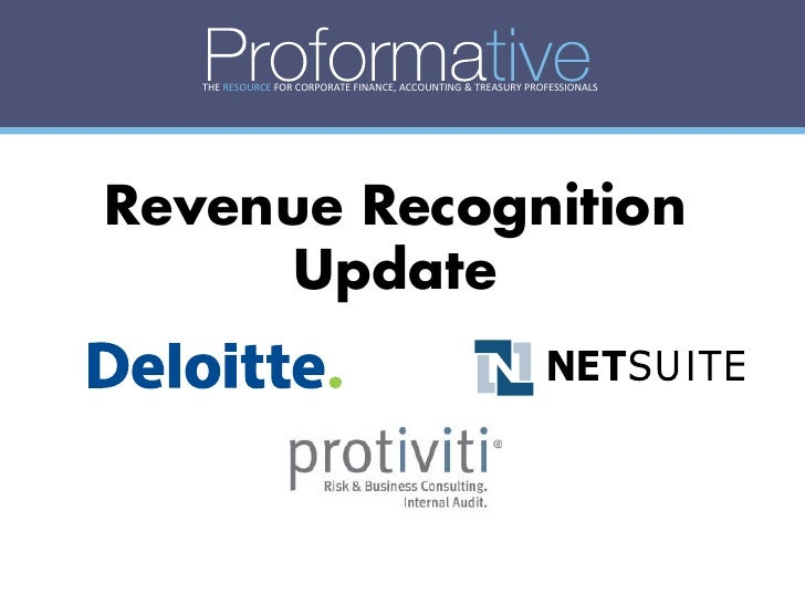 THE RESOURCE FOR CORPORATE FINANCE, ACCOUNTING & TREASURY PROFESSIONALS     Revenue Recognition       Update