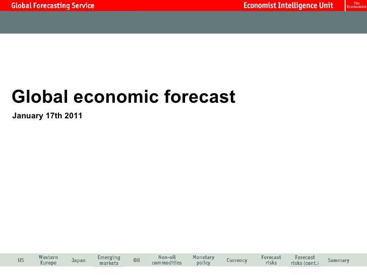 Jan 2011 EIU Global Economic Forecast